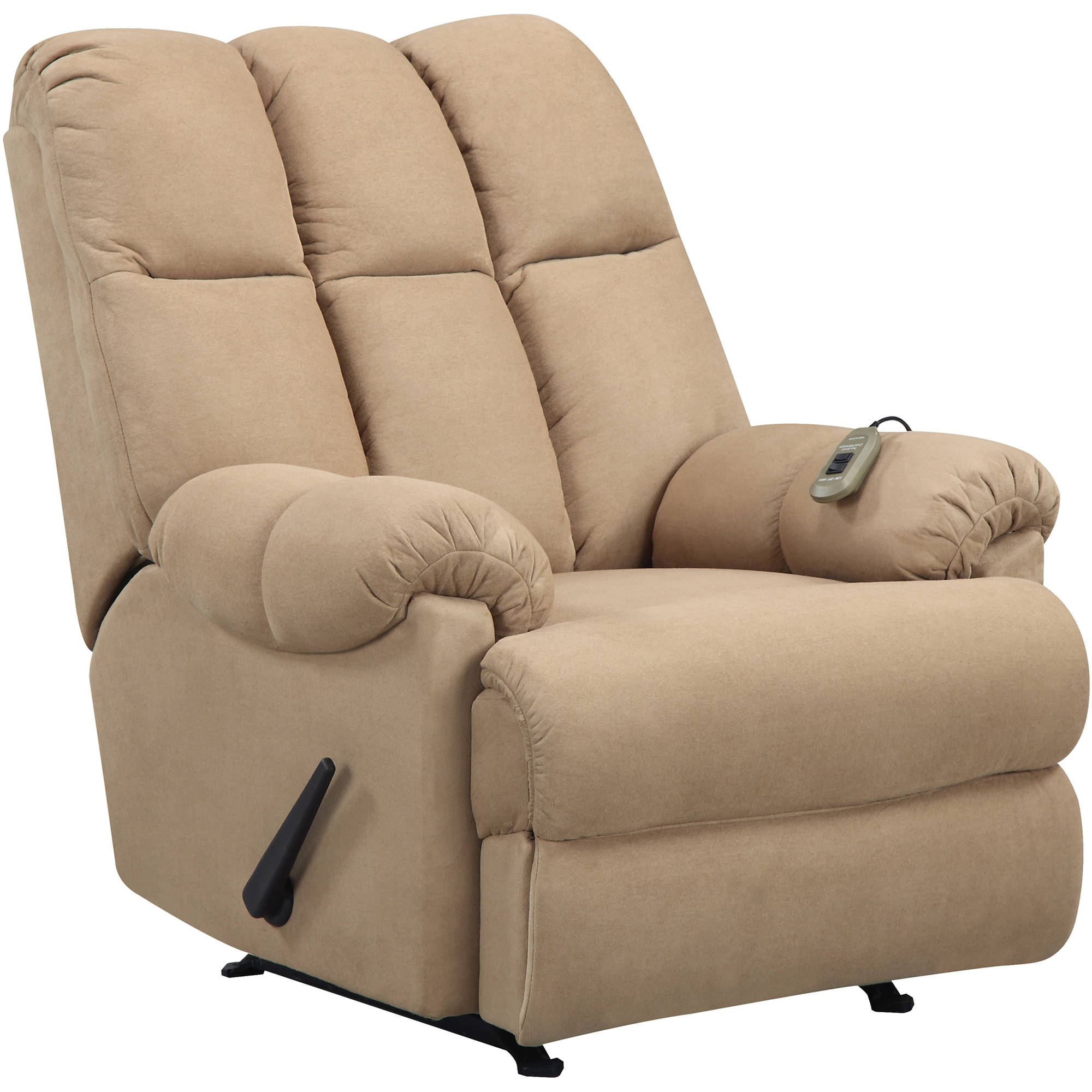Dorel Living Padded Massage Rocker Recliner, Multiple Colors - Traveller Location