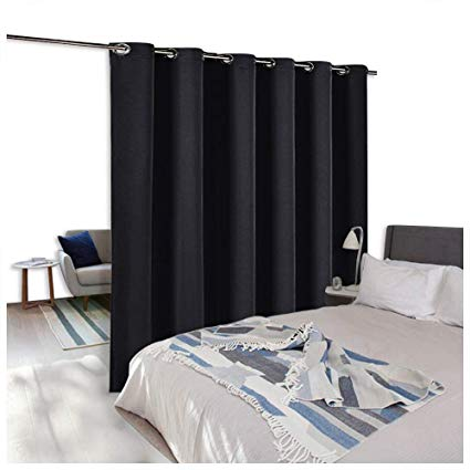 NICETOWN Room Divider Curtain Screen Partitions, Patio Door Curtain, Hide  Clutter Separate Functions Full