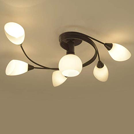 Joypeach Rustic Style LED Flush Mount Ceiling Lights, Creative