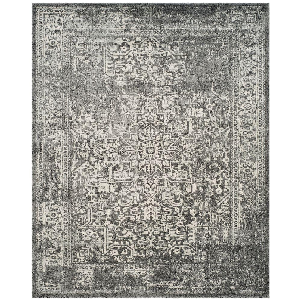 Safavieh. Evoke Grey/Ivory 9 ft. x 12 ft. Area Rug