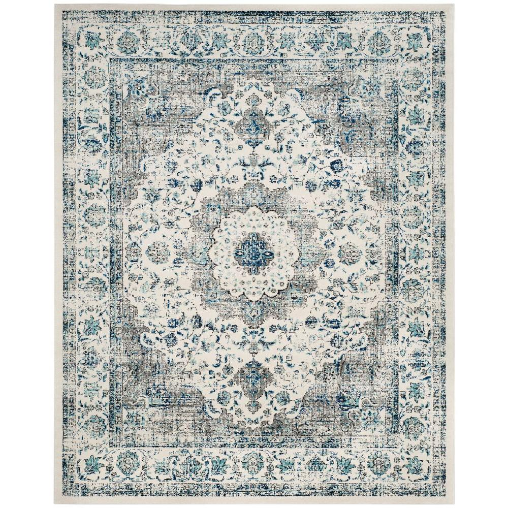 Safavieh. Evoke Gray/Ivory 8 ft. x 10 ft. Area Rug