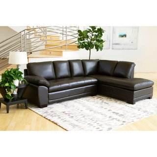 Buy Leather Sectional Sofas Online at Overstock | Our Best Living Room  Furniture Deals