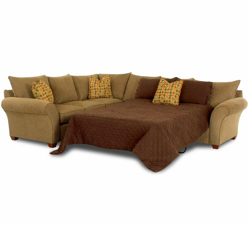 Klaussner Fletcher Sofa Sleeper Spacious Sectional
