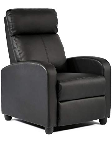 FDW Modern Leather Chaise Couch Single Recliner Chair Sofa Furniture
