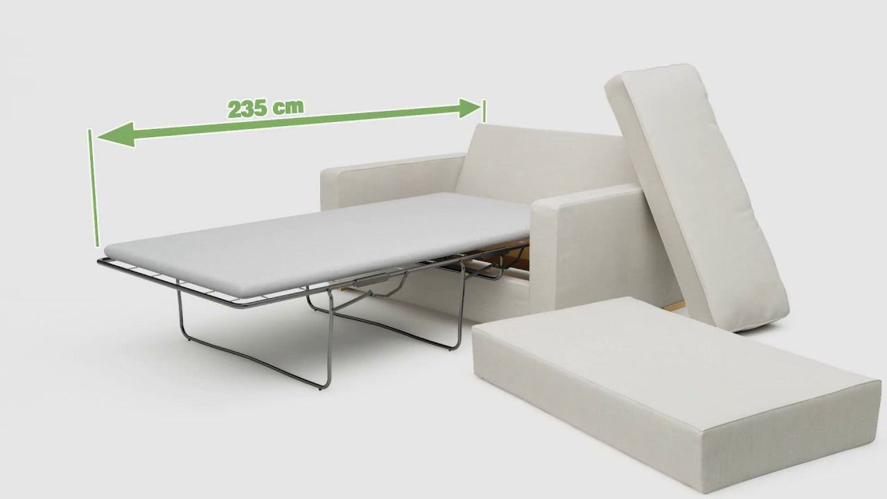 One Seat Single Sofa Bed Animation