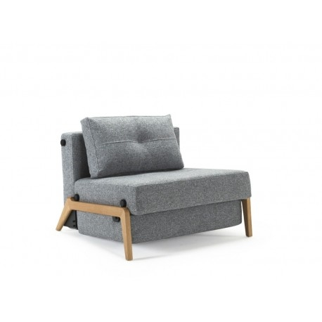 Trendy Cubed 90 Wood Single Sofa Bed Chair
