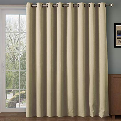 Rose Home Fashion RHF Wide Thermal Blackout-Patio Door Curtain, Sliding  Door Curtains,