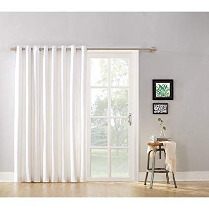 Mainstay Modern Blackout Energy Efficient Extra Wide Sliding Glass Door and  Patio Door Curtain Panel with