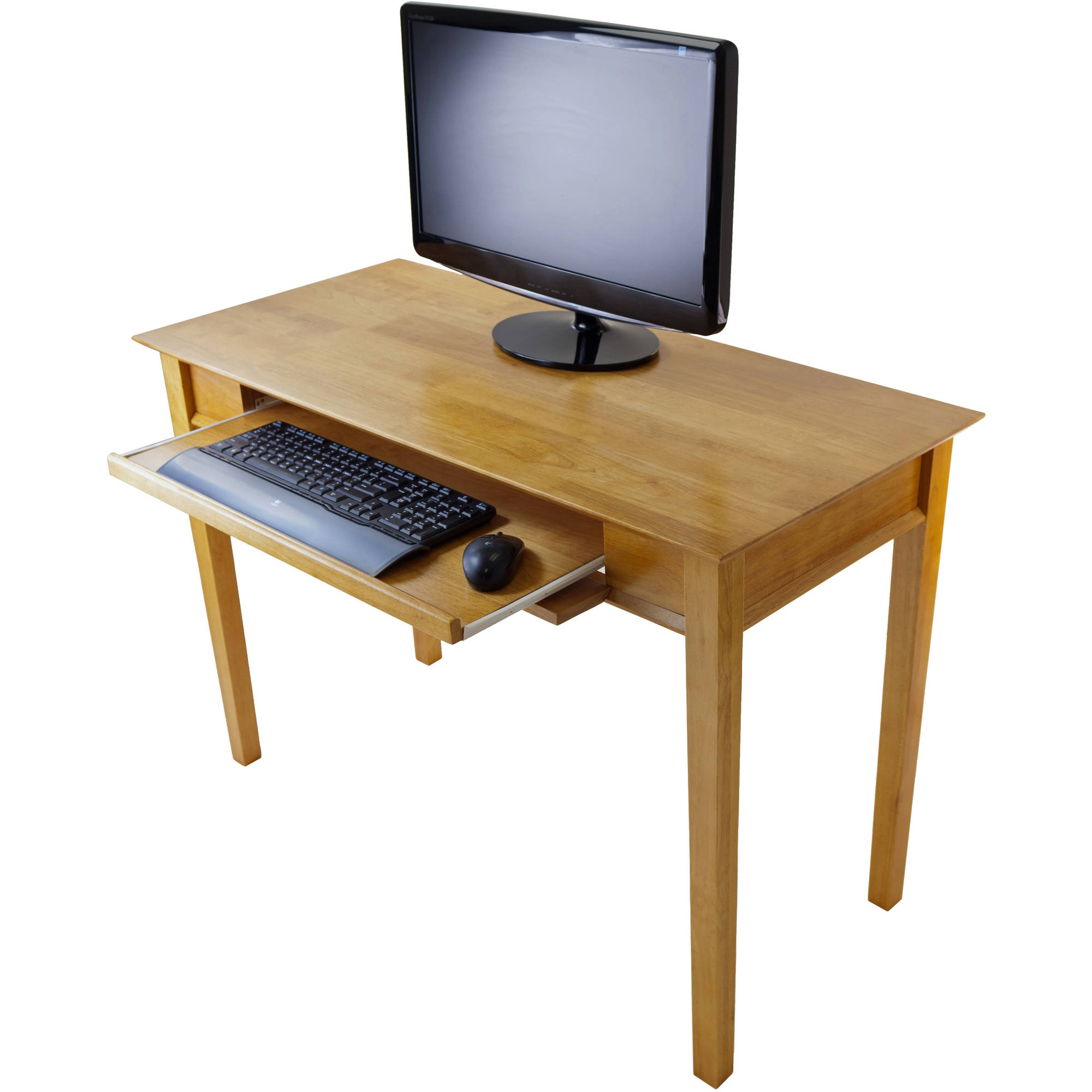Winsome Wood Studio Home Office Computer Desk, Honey Pine Finish -  Traveller Location