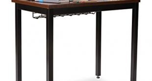 "Small Computer Desk for Home Office - 36"" Length Table w/Cable Organizer -"