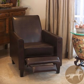 Christopher knight home leather recliner club chair 5