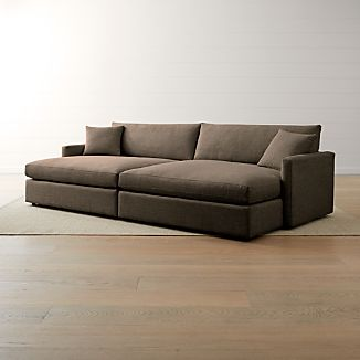 Lounge II Petite 2-Piece Double Chaise Sectional Sofa