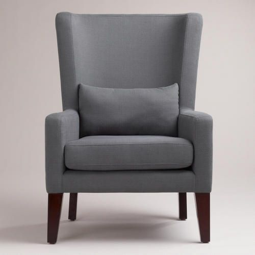 Grey High Back Sofa Chair