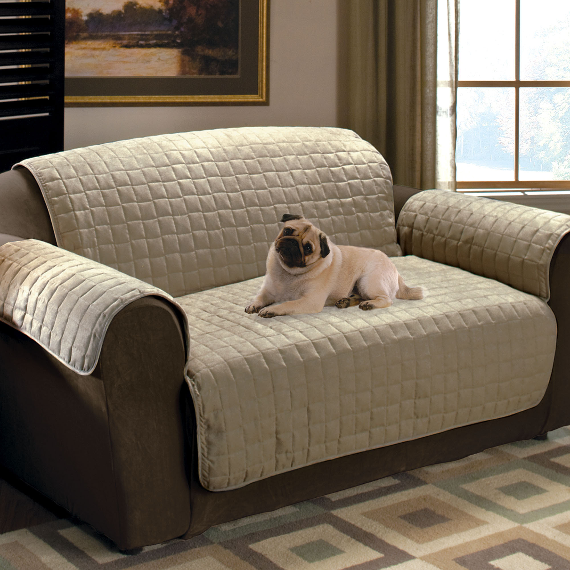 sectional sofa slipcovers in brown and cream for living room furniture ideas