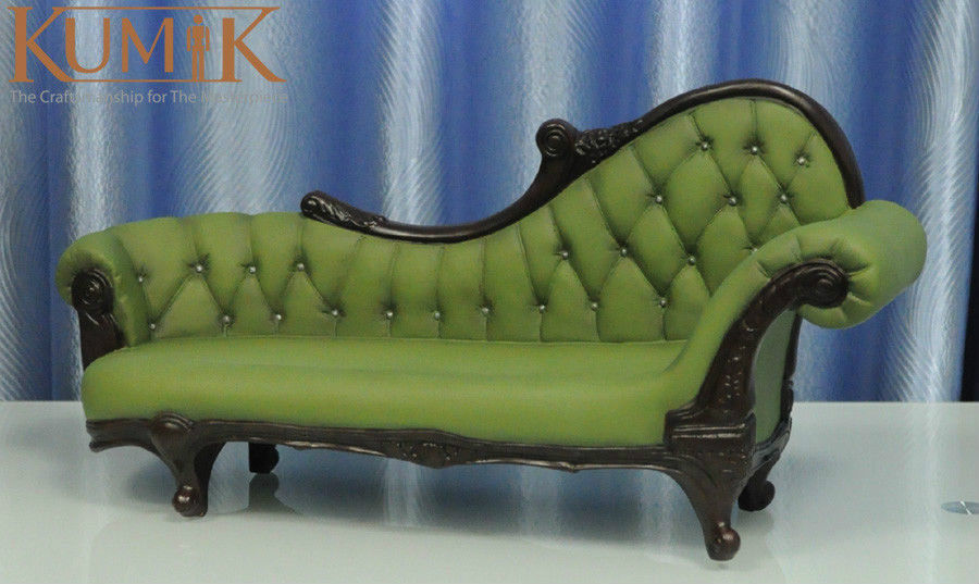 Hot Doll Figure Accessory Furniture 1:6 AC 7 Green Long Sofa Settee Retro  Couch Model Toys Collection Gift Free Shipping-in Action & Toy Figures from  Toys