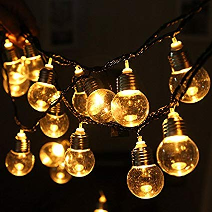 Amazon.com : Retro Solar Light Bulb String Lights, MUEQU Waterproof