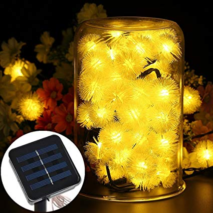 Amazon.com : LED16ft 20 LED Solar Outdoor String Fairy Lights
