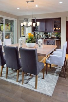 Square Dining Table Ideas · Contemporary Dining Room Ideas to Inspire You!  www.Traveller Location www.moderndiningtables