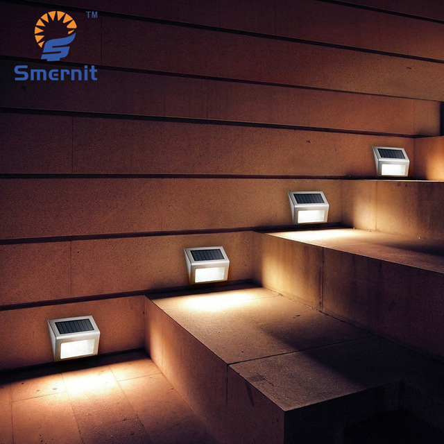 10 pieces LED Solar Powered Stair Lights Solar Step Lights Outdoor