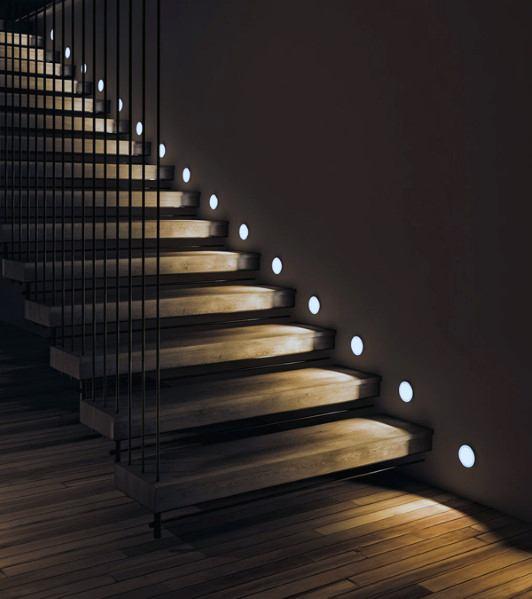 Top 60 Best Staircase Lighting Ideas - Illuminated Steps