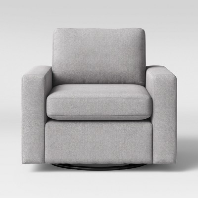 Barnstable Pillow Arm Transitional Swivel Arm Chair Gray - Threshold™ :  Target