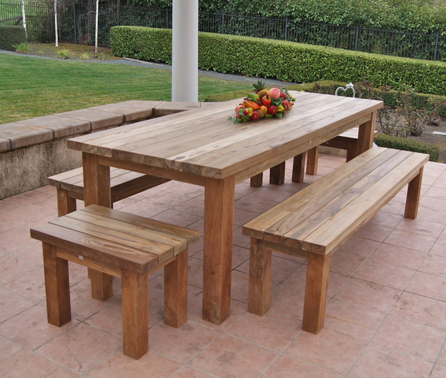 Reclaimed, Recycled Teak Patio Furniture Rustic Patio, San Francisco