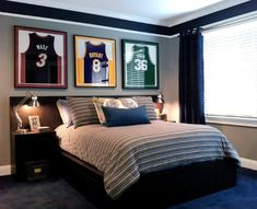 Luv the color scheme got to do this in our boys room . Spaces Teen Boys Room  Design, Pictures, Remodel, Decor and Ideas - page 4