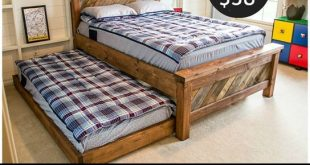 DIY Furniture Plans   Get the free woodworking plans to build this rolling trundle  bed for only $38 in lumber!