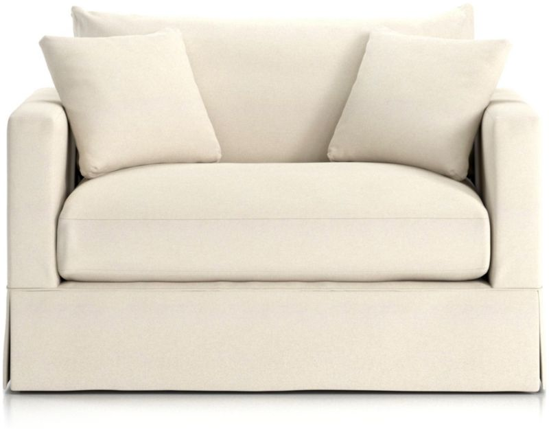 TAP TO ZOOM Willow Modern Slipcovered Twin Sleeper Sofa shown in Kingston,  Snow