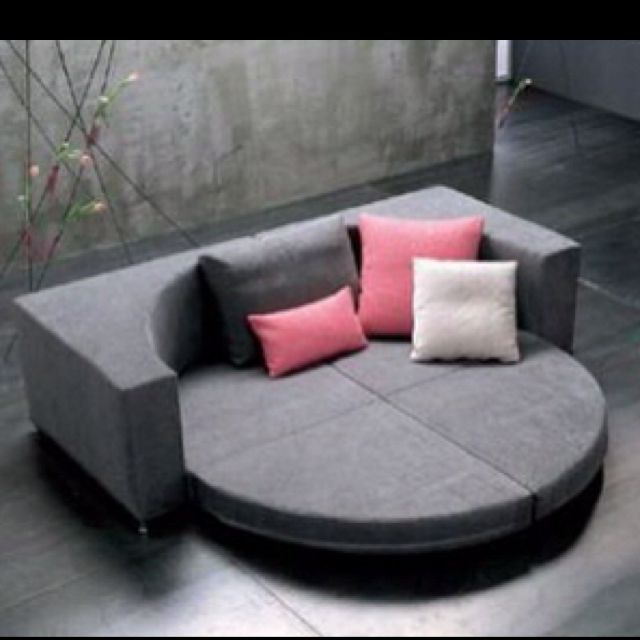Round couch bed Too cool!
