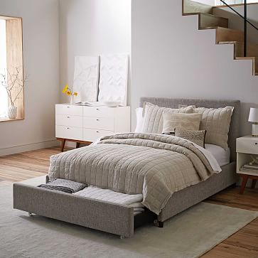 Contemporary Upholstered Storage Bed | west elm