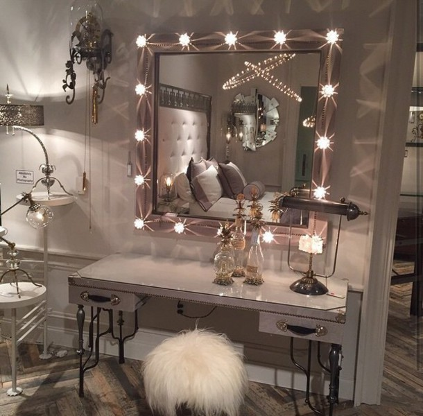 Enchanting Bedroom Vanity With Mirror And Lights 44 On Home