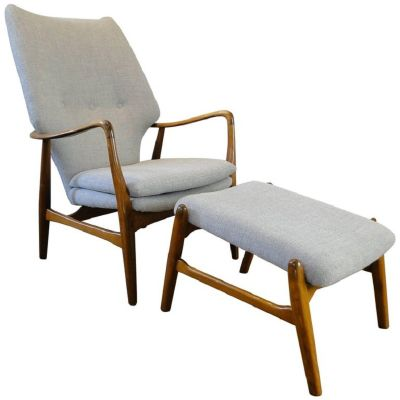 Vintage Armchair and Ottoman by Ib Madsen & Acton Schubell 1