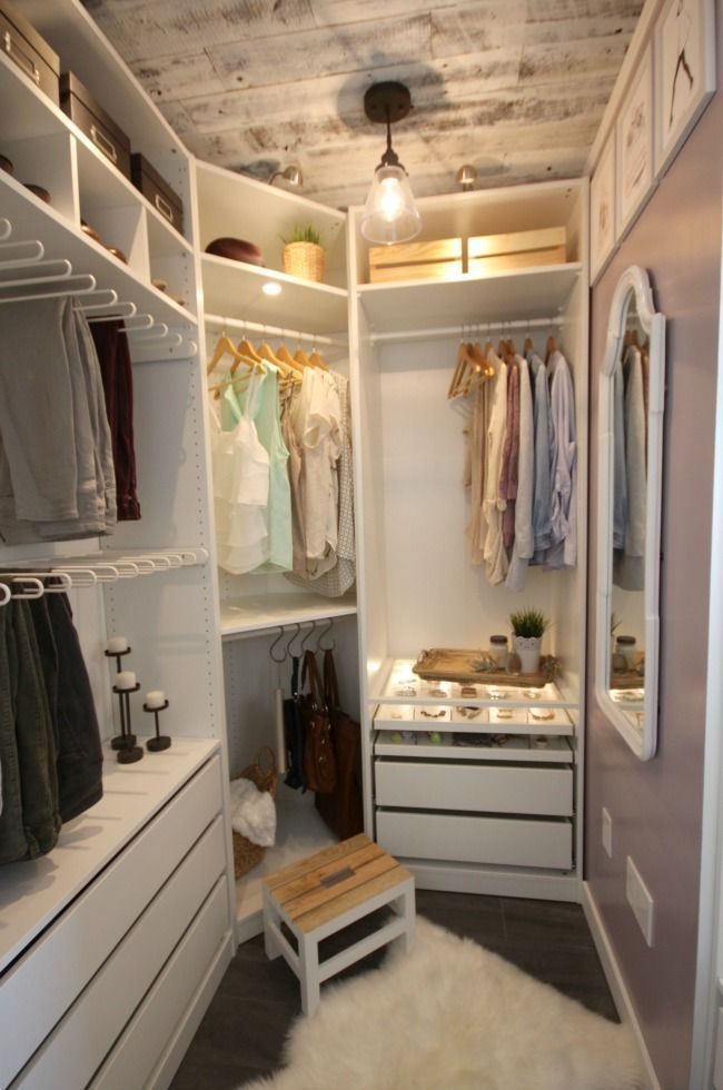 Image result for narrow walk in closet Small Walk In Wardrobe, Small Walk  In Closet