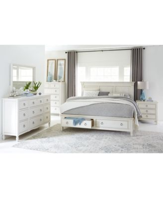 Furniture Sag Harbor White Bedroom Furniture Collection, 3-Pc. Set  (Queen Storage