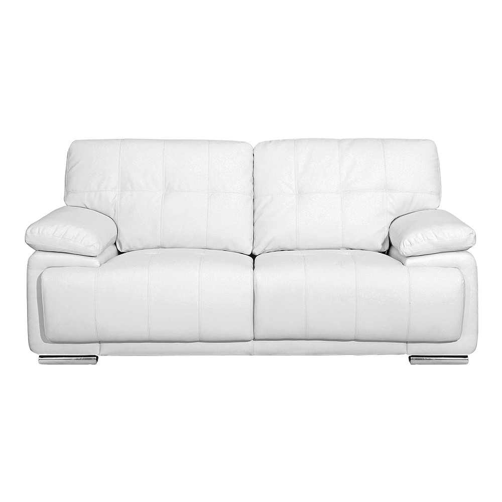 MASSA 3 seater white leather sofa