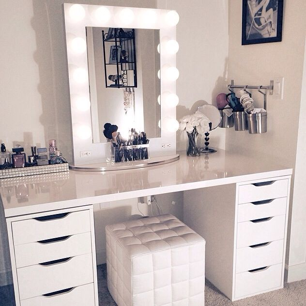 5 Simple and Stylish White Makeup Vanity, Ikea Makeup Vanity, Ikea Makeup  Storage,