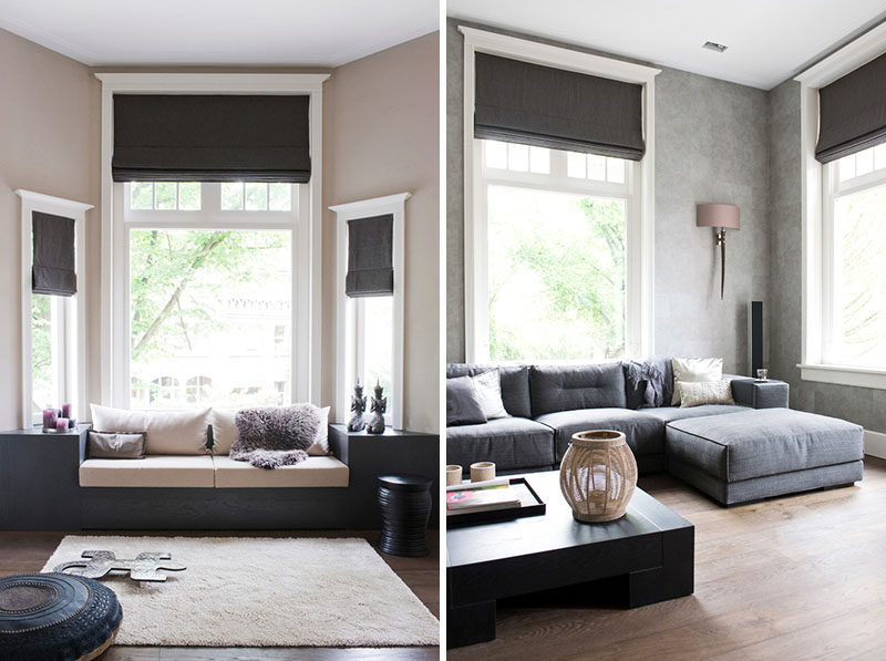 7 Contemporary Ideas For Window Coverings // ROMAN BLINDS -- Roman blinds,  also