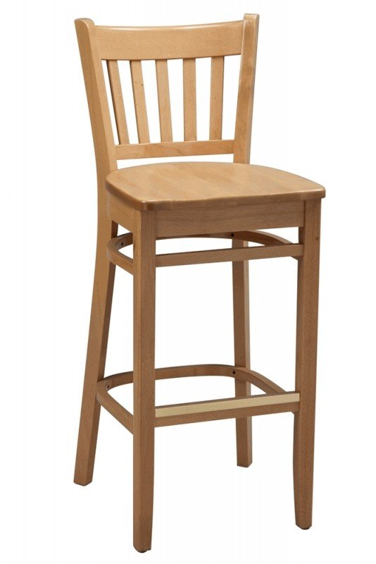 Wooden bar stools with backs 3