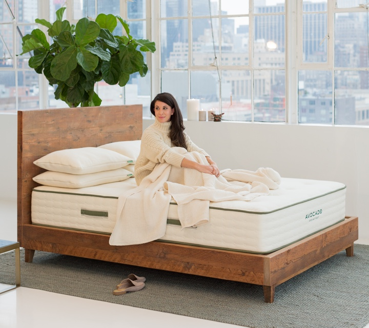 Natural Wood Bed Frame Product Photo