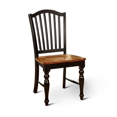 Sun & Pine Country Style Wooden Chair Wood/Black/Antique Oak (Set Of 2) :  Target