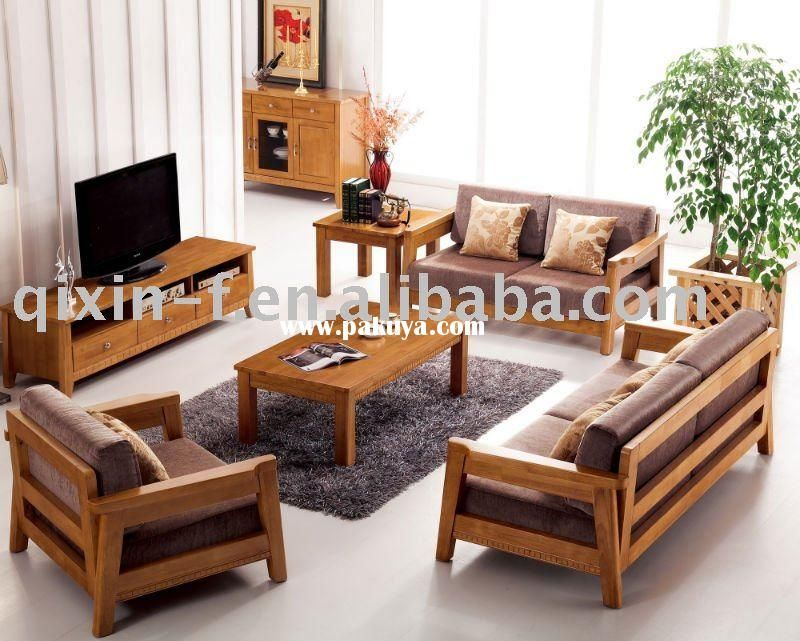 wooden living room sofa F001-2 More