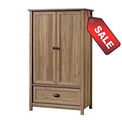 EFD Wooden Wardrobe Armoire Cabinet Closet Modern With Drawer and  Adjustable Shelves Wood Bedroom Rustic Clothes