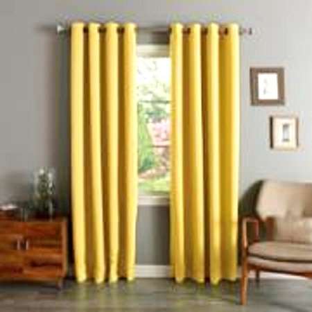 (#72) 1 PANEL YELLOW SOLID THERMAL FOAM LINED BLACKOUT HEAVY THICK WINDOW  CURTAIN