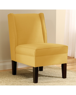 Skyline Furniture Linen French Yellow Wingback Chair (Upholstered)