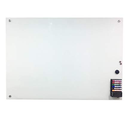 Glass Magnetic Board co-z magnetic glass dry erase board set , 40x 60, NTZZPLX