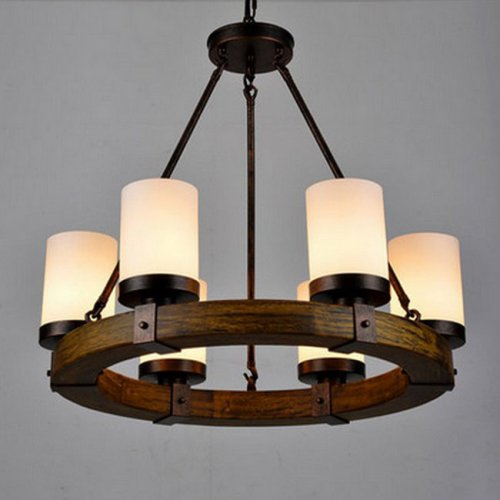 LightInTheBox Vintage Old Wood Wooden Chandeliers Painting Finish