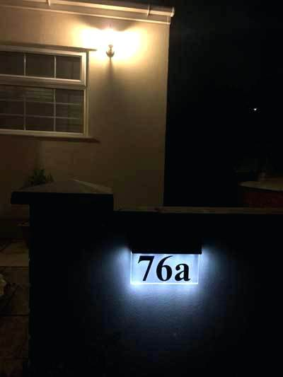 Solar Powered House Number Light Solar Powered House Numbers Address