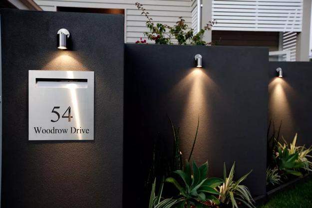 How to Beautify House Number Signs with Plants and Outdoor Lights