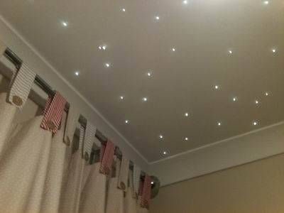 Twinkle lights for a baby nursery ceiling | Home decorating in 2019